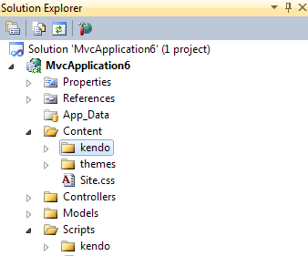 Kendo directories in Solution Explorer