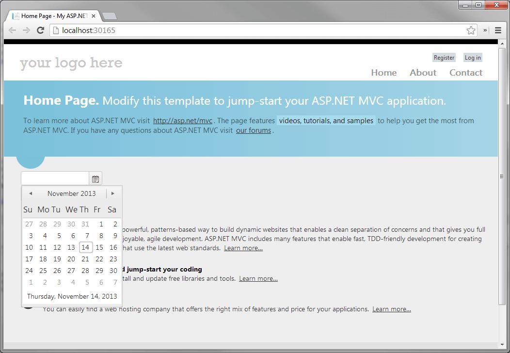 Use with ASP NET MVC 4 | Progress Telerik UI for ASP NET MVC