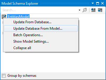 Update Database From Model Wizard - Overview