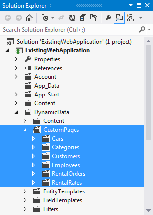 How to: Add Dynamic Data to Existing Web Applications