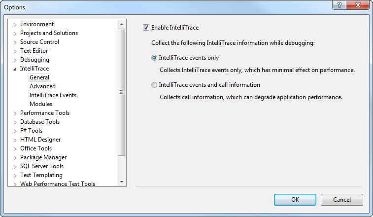 How to: Debug Telerik® Data Access Application with IntelliTrace