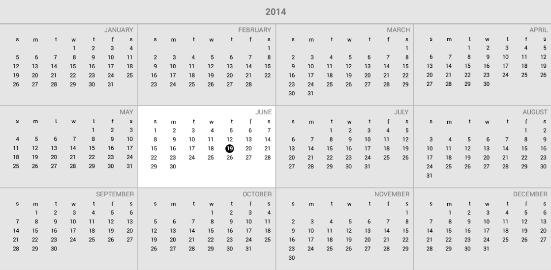 Calendar Overview : Radcalendarview overview telerik ui for android