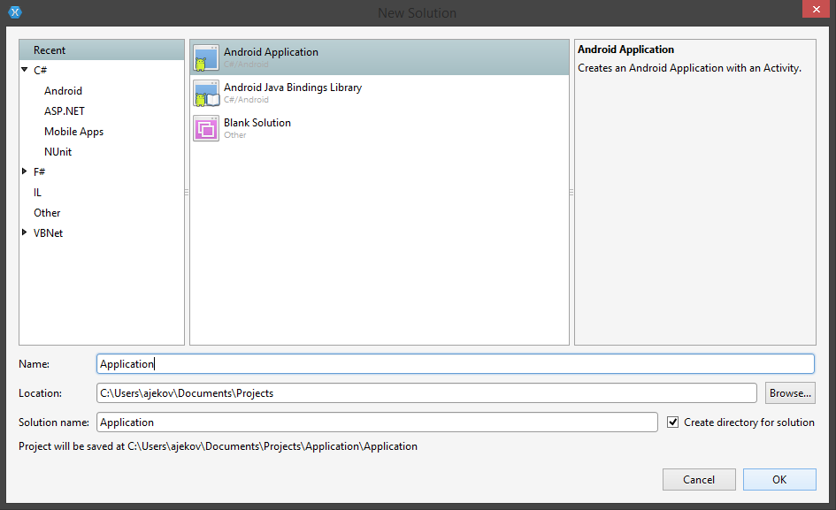 TelerikUI-Installation-Xamarin-New-Project