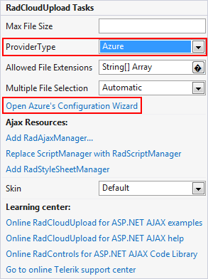 Azure Blob Storage   RadCloudUpload for ASP NET AJAX Documentation