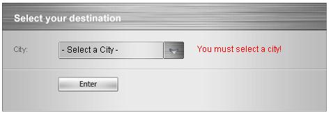 Validation | RadComboBox for ASP NET AJAX Documentation