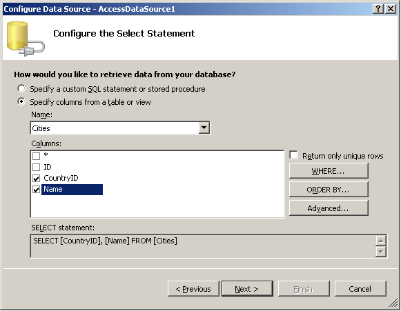 Vbnet need to create a temporary table dataset