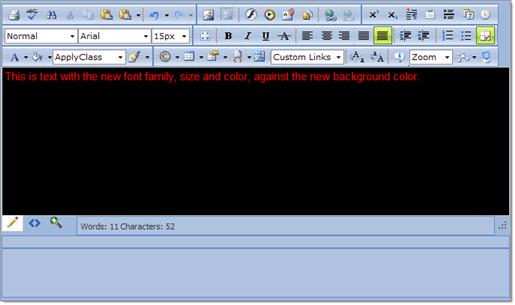 Set Editor Background And Color Radeditor For Asp Net Ajax