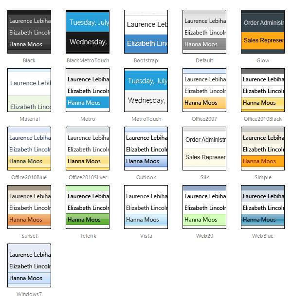 Skins | RadGrid for ASP NET AJAX Documentation | Telerik UI for ASP