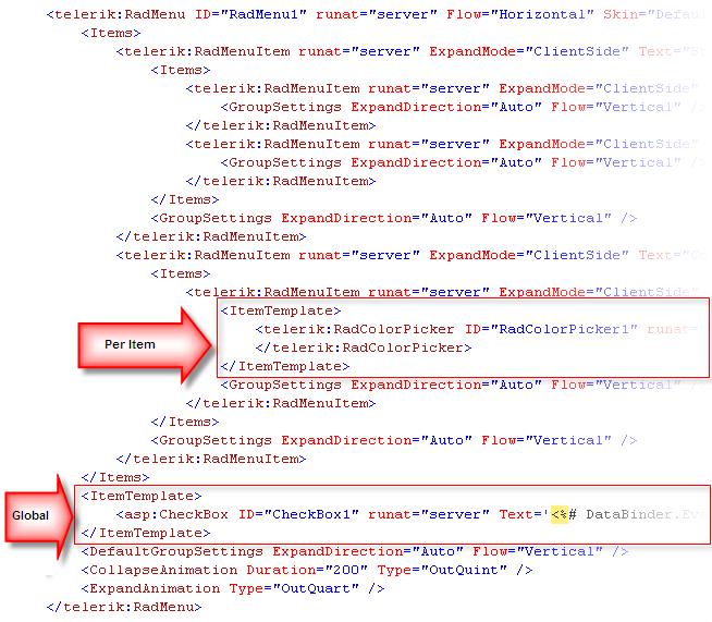 Overview radmenu for asp net ajax documentation for Asp net menu templates