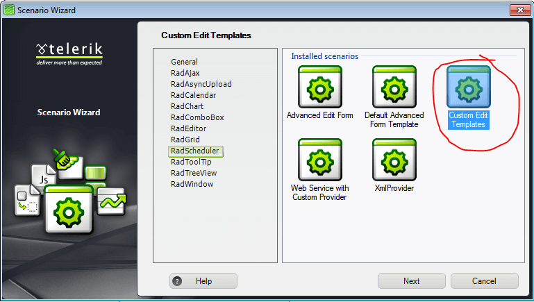 Templates | RadScheduler for ASP.NET AJAX Documentation
