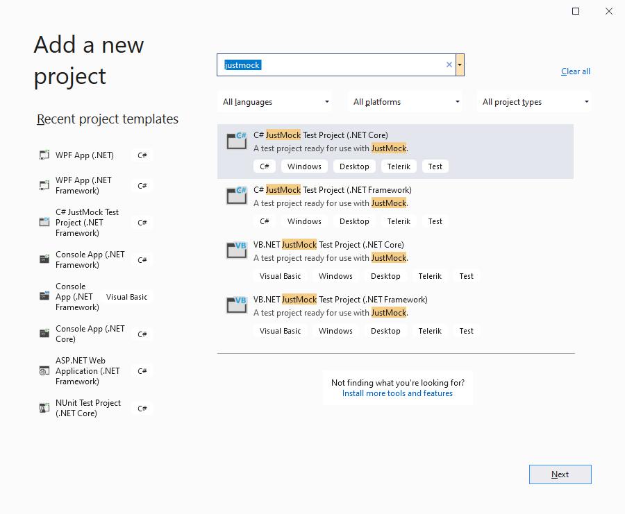 Adding Telerik JustMock in Your Test Project  JustMock Documentation