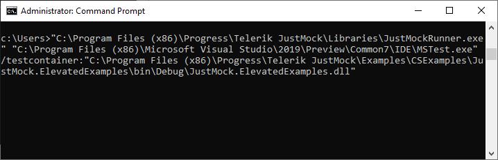 Windows Batch Command Justmock Documentation