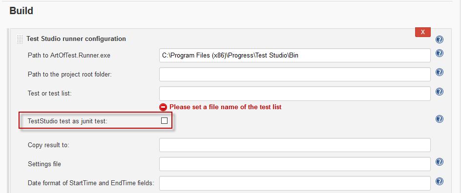Jenkins CI Plugin | Test Studio Dev Documentation | Progress