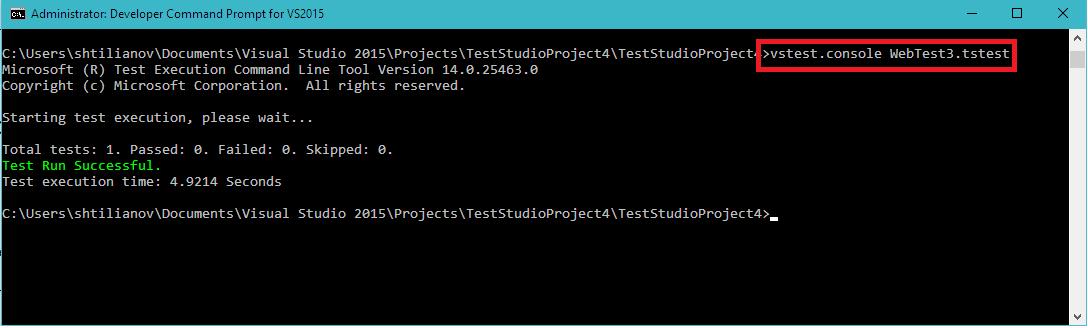 VSTest Console exe | Test Studio Dev Documentation