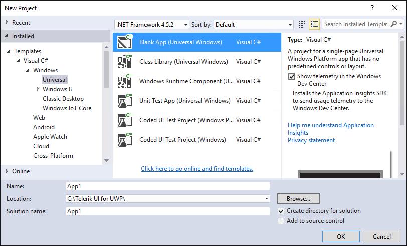Start Using Telerik UI for UWP   UI for Universal Windows Platform ...