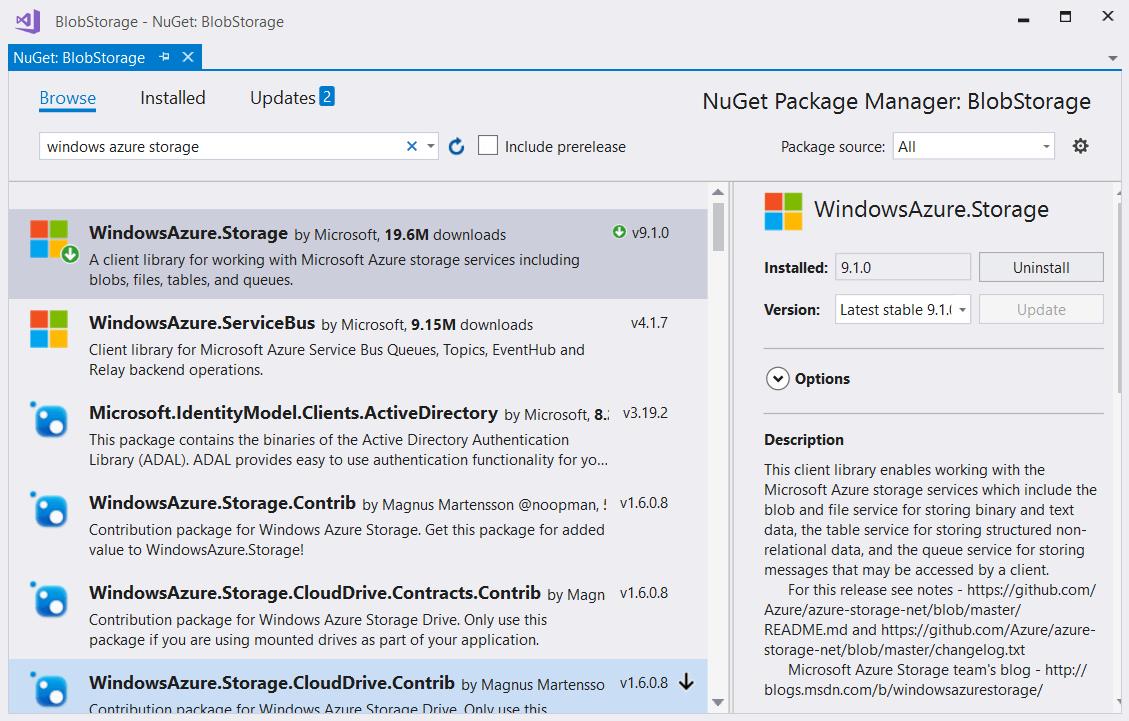 Blob Storage | Cloud Services | Telerik UI for WinForms