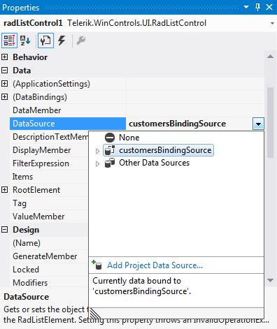 Data Binding   RadListControl   Telerik UI for WinForms