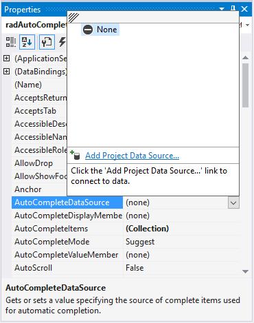 Auto-Complete | RadAutoCompleteBox | Telerik UI for WinForms