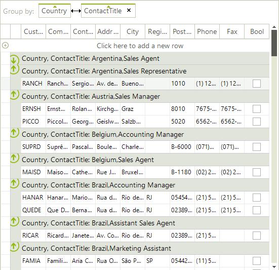 Setting Groups Programmatically   RadGridView   Telerik UI