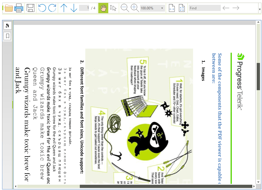 Rotation | RadPdfViewer | Telerik UI for WinForms