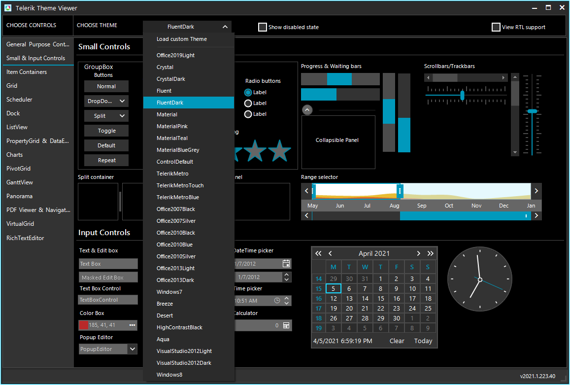 ThemeViewer   UI for WinForms Tools   Telerik UI for WinForms