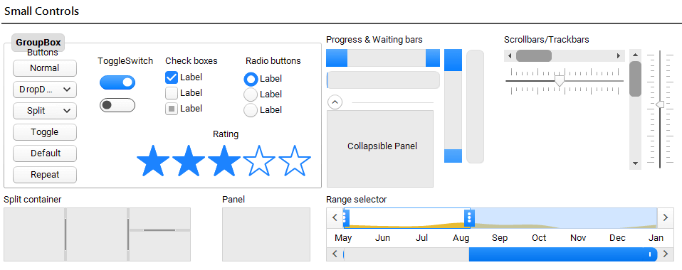Crystal Themes Blending   UI for WinForms Tools   Telerik UI for