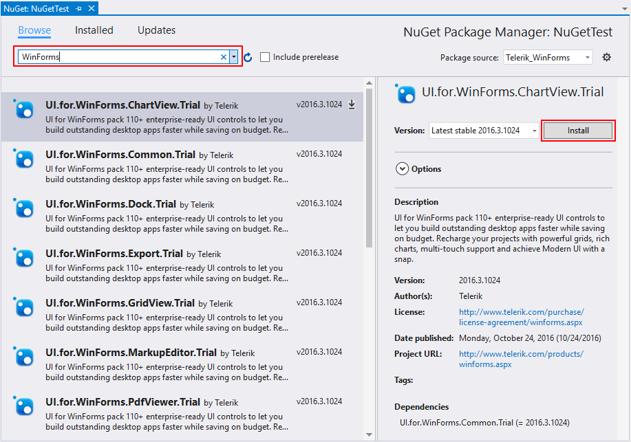 Install using NuGet Packages | Installation Deployment and