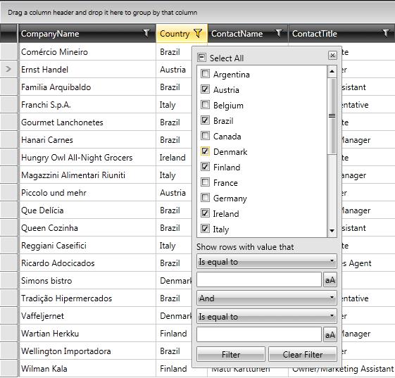 WPF DataGrid | Configure The Filtering Mode | Telerik UI for WPF