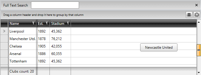 Wpf Gridview Column Style The New WPF GridView Customized 1 of 3