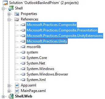 How to Use RadOutlookBar as a Container in Prism Application