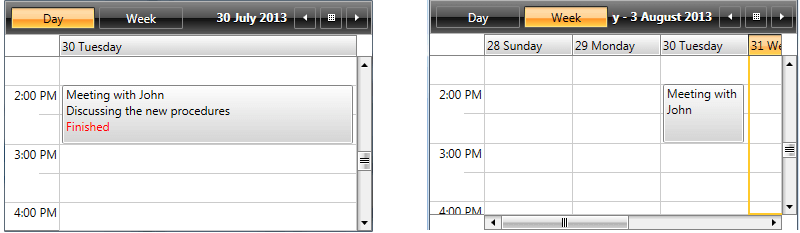 appointment template telerik ui for wpf
