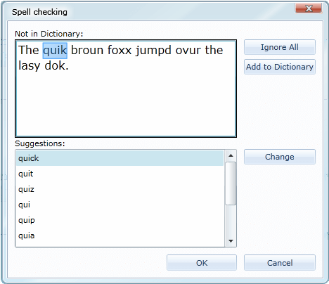 using a custom dictionary in word