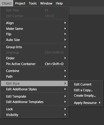 wpf menu style template - editing control templates in expression blend