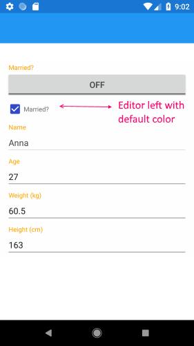 RadDataForm - Modify TelerikTheme Resources   Telerik UI for Xamarin