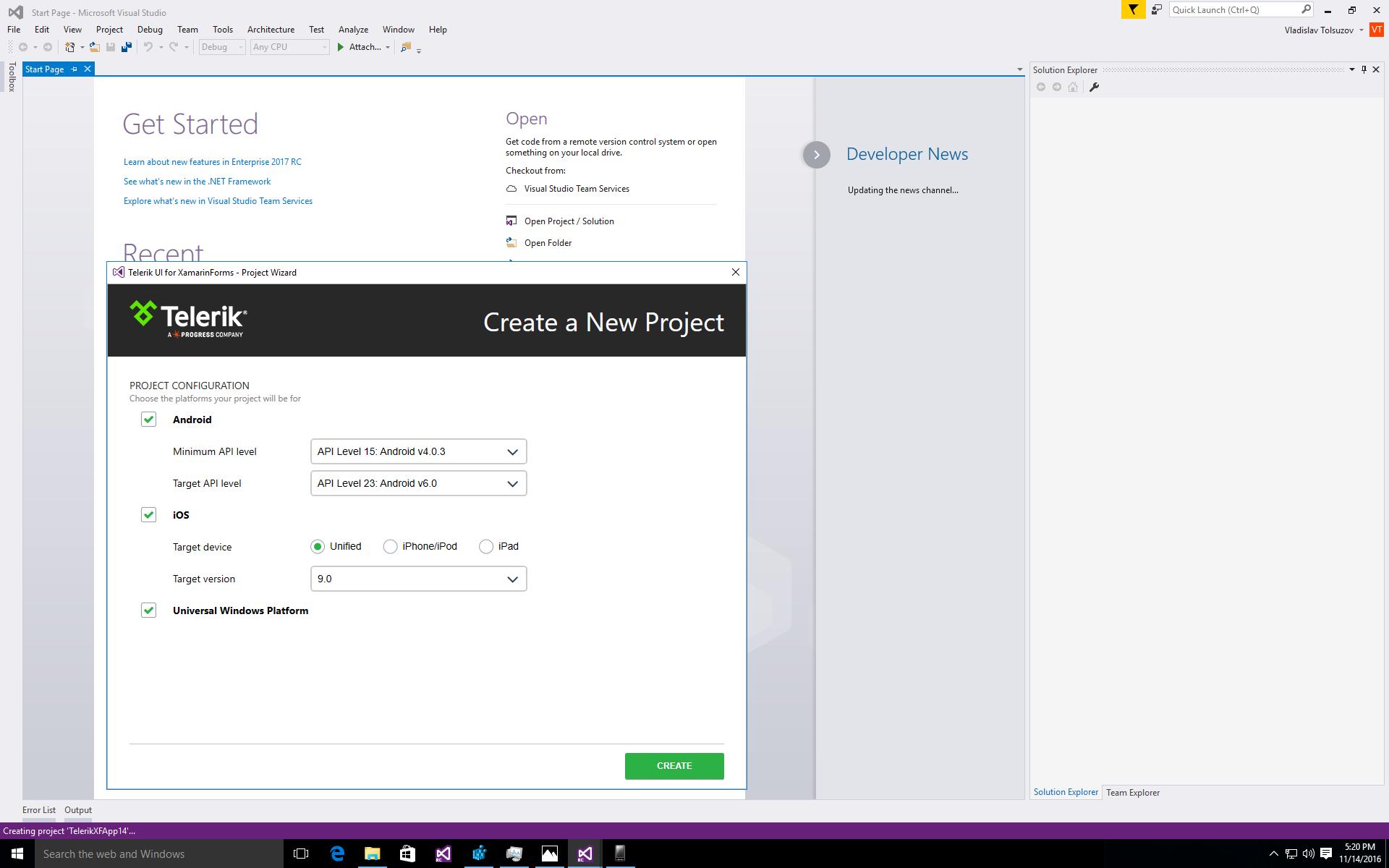 Manual Installation for Visual Studio | Telerik UI for Xamarin