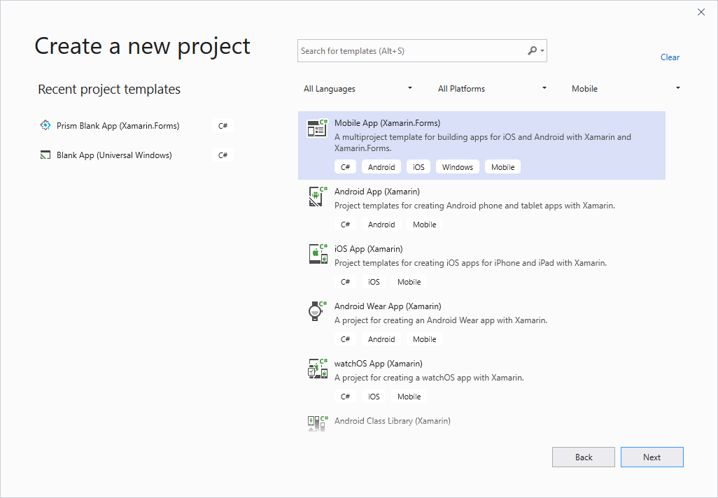 Getting Started with Telerik UI for Xamarin on Windows
