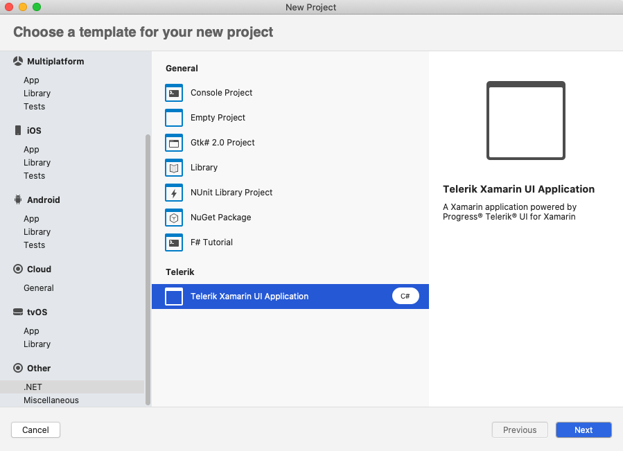 Project Wizard for Visual Studio for Mac