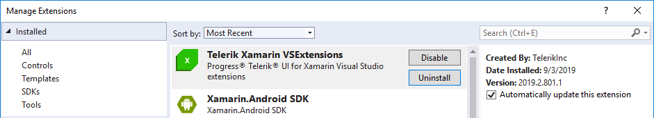Telerik UI for Xamarin Project Wizard | Telerik UI for Xamarin