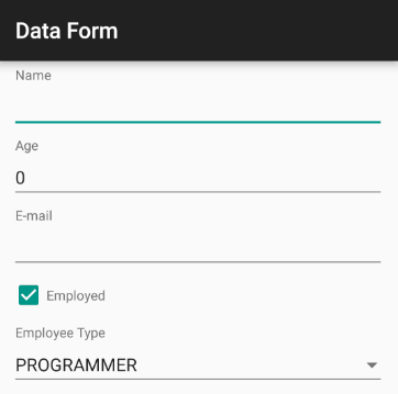 RadDataForm Getting Started | Telerik UI for Xamarin Android