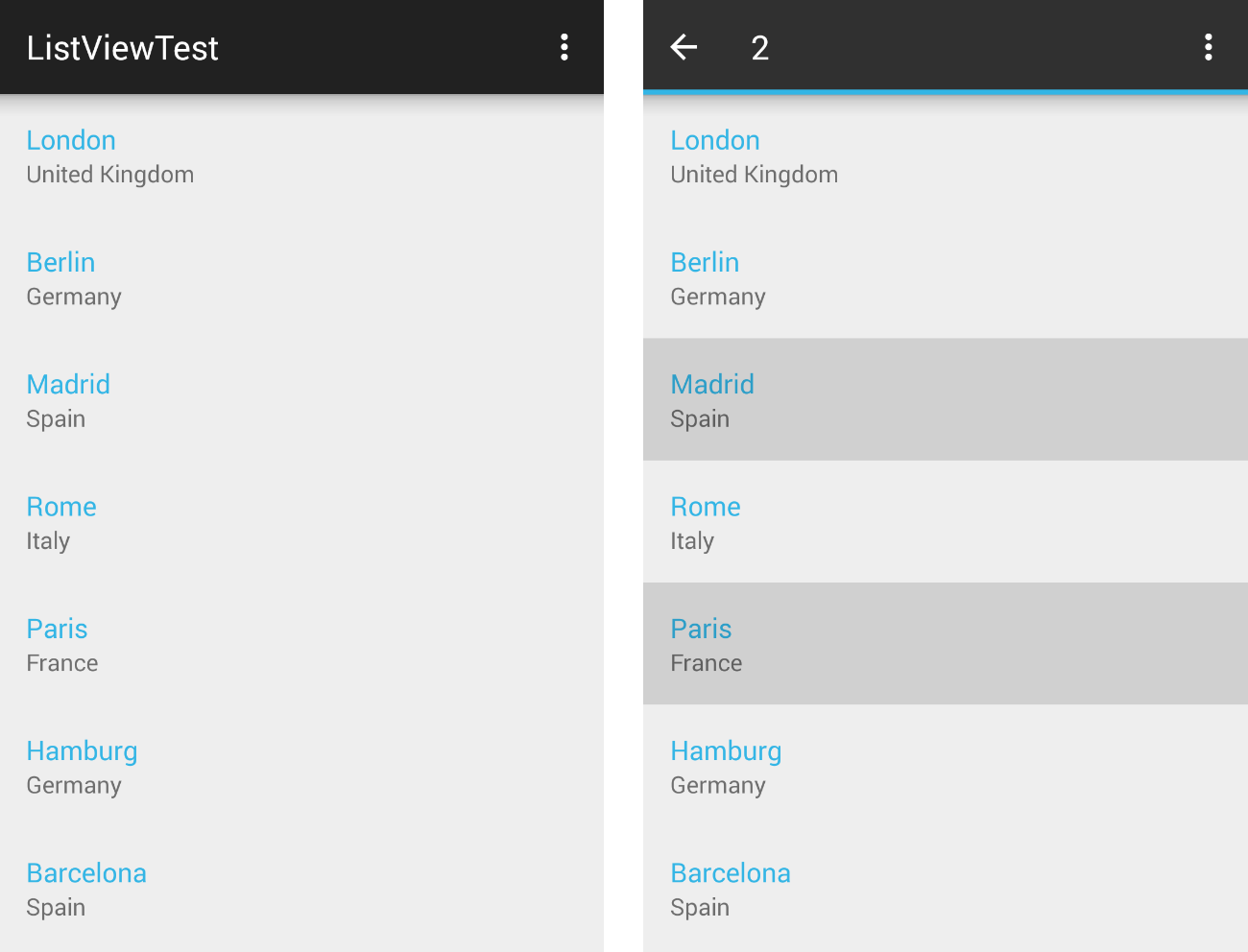 Selection Behavior | Telerik UI for Xamarin Android Documentation
