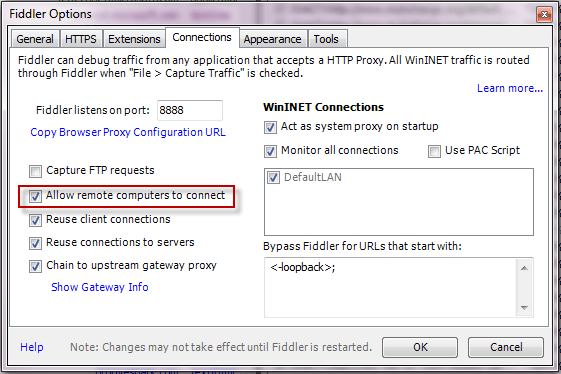 Allow remote computers to connect