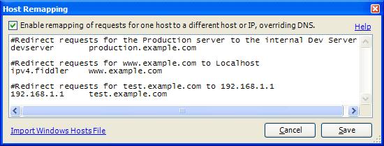 Override Windows HOSTS file