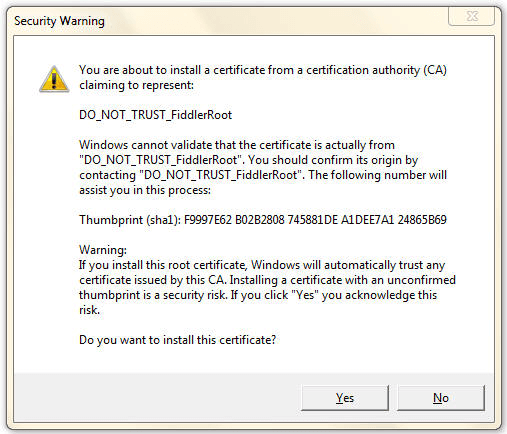 Install this certificate