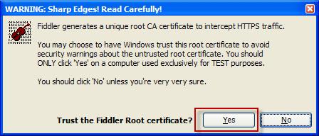 Trust FiddlerRoot Certificate | Progress Telerik Fiddler