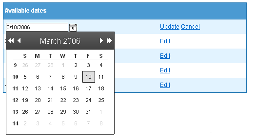 Date Picker Control Using AjaxControlToolkit in a form