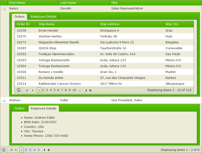 Telerik grid girdview csdn for Kendo grid column template mvc