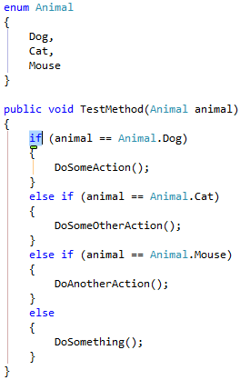 C# Switch Statement Template
