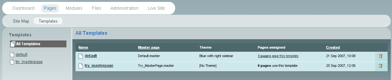 Sitefinity cms 3 x and older versions creating and for Asp net master page templates free