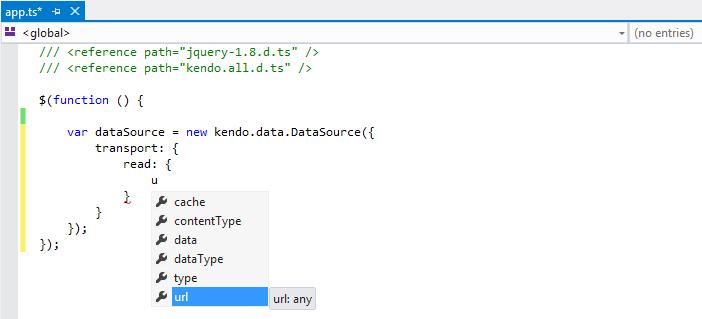TypeScript | Kendo UI Third-Party Tools | Kendo UI for jQuery