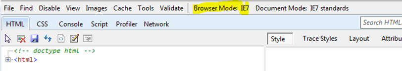 Browser Mode IE 7 No Style